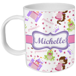 Princess Print Plastic Kids Mug (Personalized)