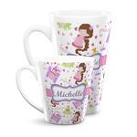 Princess Print Latte Mug (Personalized)
