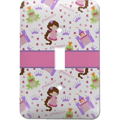 Princess Print Light Switch Cover (Single Toggle) (Personalized)