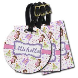 Princess Print Plastic Luggage Tags (Personalized)
