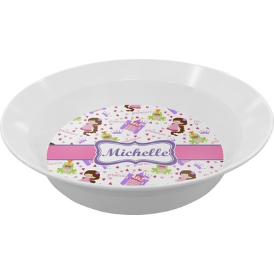 Princess Print Melamine Bowl (Personalized)