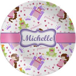 "Princess Print Melamine Plate - 8"" (Personalized)"
