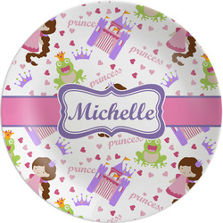 Princess Print Melamine Plate (Personalized)