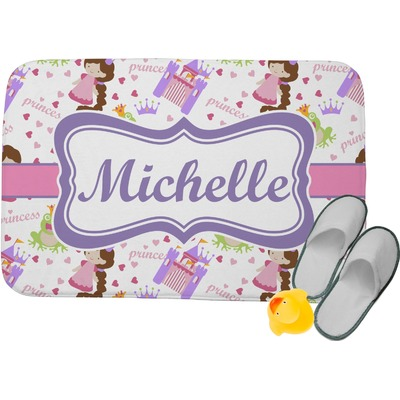 Princess Print Memory Foam Bath Mat (Personalized)