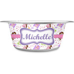Princess Print Stainless Steel Pet Bowl (Personalized)
