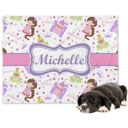 Princess Print Minky Dog Blanket (Personalized)