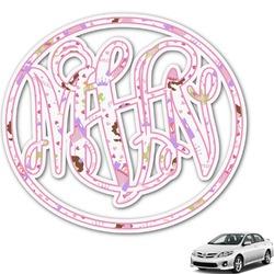 Princess Print Monogram Car Decal (Personalized)