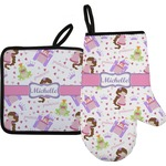 Princess Print Oven Mitt & Pot Holder (Personalized)