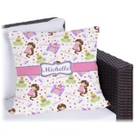 Princess Print Outdoor Pillow (Personalized)