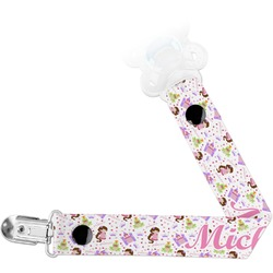 Princess Print Pacifier Clips (Personalized)