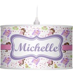 Princess Print Drum Pendant Lamp (Personalized)