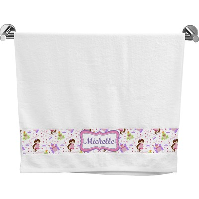 Princess Print Bath Towel (Personalized)