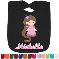 Princess Print Baby Bib - 14 Bib Colors (Personalized)