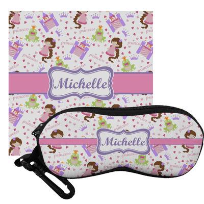 Princess Print Eyeglass Case & Cloth (Personalized)