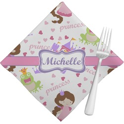 Princess Print Napkins (Set of 4) (Personalized)
