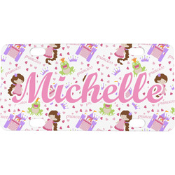 Princess Print Mini / Bicycle License Plate (Personalized)