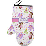 Princess Print Left Oven Mitt (Personalized)