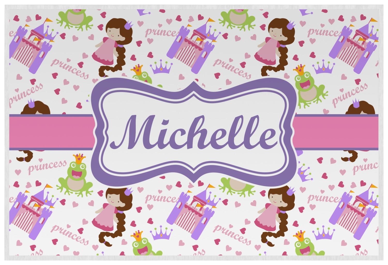 princess print placemat laminated personalized youcustomizeit