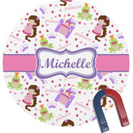 Princess Print Round Magnet (Personalized)