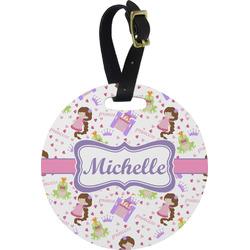 Princess Print Round Luggage Tag (Personalized)