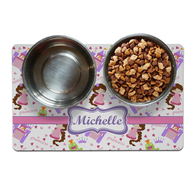 Princess Print Pet Bowl Mat (Personalized)