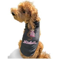 Princess Print Black Pet Shirt - XL (Personalized)