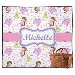 Princess Print Outdoor Picnic Blanket (Personalized)