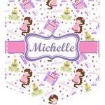 Princess Print Iron On Faux Pocket (Personalized)