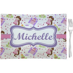 Princess Print Rectangular Glass Appetizer / Dessert Plate - Single or Set (Personalized)