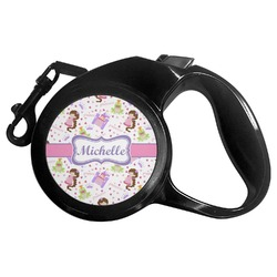 Princess Print Retractable Dog Leash (Personalized)