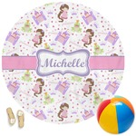 Princess Print Round Beach Towel (Personalized)