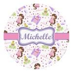 Princess Print Round Decal - Custom Size (Personalized)