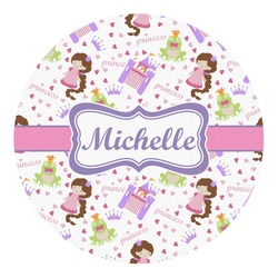 Princess Print Round Decal - Custom Size (Personalized)