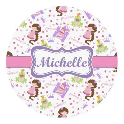 Princess Print Round Decal (Personalized)