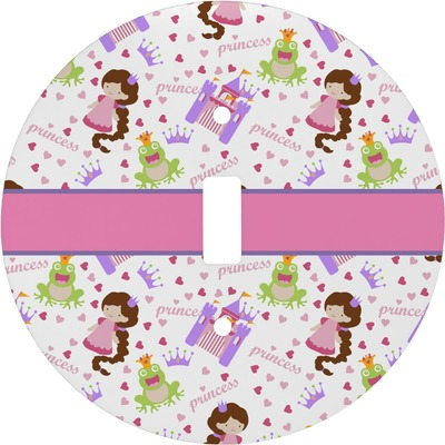 Princess Print Round Light Switch Cover (Personalized)