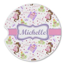 Princess Print Sandstone Car Coasters (Personalized)