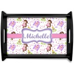 Princess Print Black Wooden Tray (Personalized)