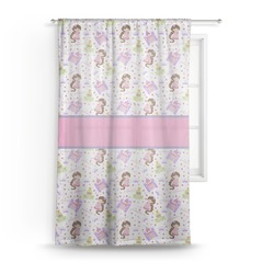 Princess Print Sheer Curtains (Personalized)