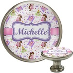 Princess Print Cabinet Knob (Silver) (Personalized)