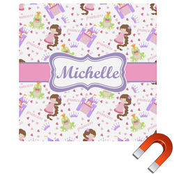 Princess Print Square Car Magnet (Personalized)
