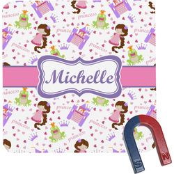 Princess Print Square Fridge Magnet (Personalized)