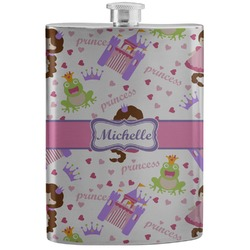 Princess Print Stainless Steel Flask (Personalized)
