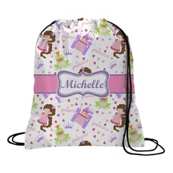 Princess Print Drawstring Backpack (Personalized)