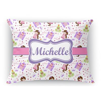Princess Print Rectangular Throw Pillow Case (Personalized)