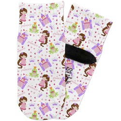 Princess Print Toddler Ankle Socks (Personalized)