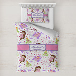 Princess Print Toddler Bedding w/ Name or Text