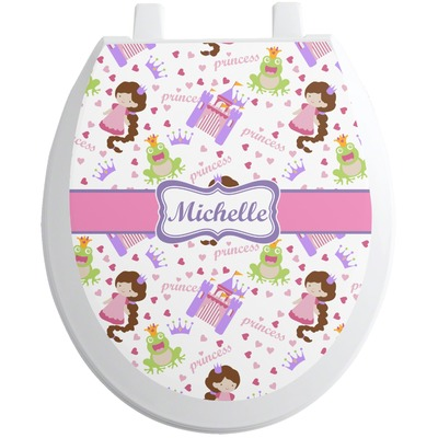 Princess Print Toilet Seat Decal (Personalized)