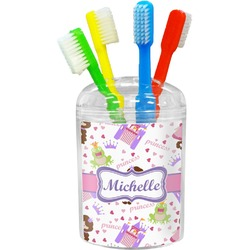 Princess Print Toothbrush Holder (Personalized)
