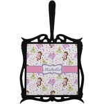 Princess Print Trivet with Handle (Personalized)