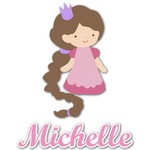 Princess Print Graphic Decal - Custom Sized (Personalized)